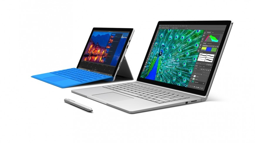 Surface Book и Surface Pro 4 от Microsoft